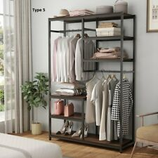 Heavy Duty Clothes Rack with Shelves & Handing Bar Free-Standing Closet Systems