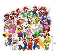 100 Stück Super Mario Wandaufkleber Wandsticker Wandtattoo Wanddeko Kinderzimmer