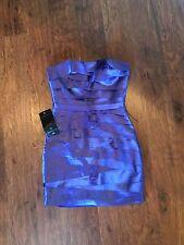NWT bebe Purple Strapless Dress Size xs