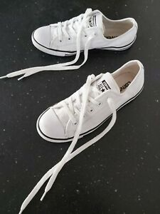 """GENUINE CONVERSE DANITY SLIM WHITE LEATHER Trainers Size 5 UK """"GOOD CONDITION"""""""