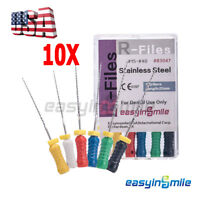 10X Dental Canal Root File Endo R-Files Stainless Steel Hand Use 25mmEASYINSMIL