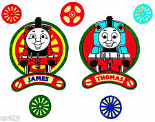 """3.5"""" THOMAS THE TRAIN TANK JAMES 5 WHEELS FABRIC WALL SAFE FABRIC DECAL CUT OUT"""