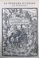 Royat en 1559 Fontaine de Royat Puy de Dome Auvergne rarissime gravure Salomon