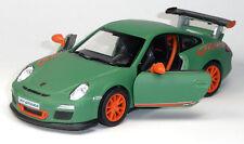Porsche 911 GT3 RS grün matt ! Sammlermodell ca. 12,5cm Neuware von KINSMART