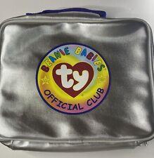 """Beanie Babies Silver Official Club Bag Case 9""""x 10"""""""