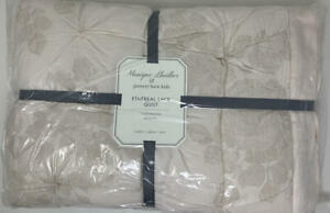 New~Pottery Barn Kids Monique Lhuillier ETHEREAL Lace Toddler~Crib Quilt~Blush