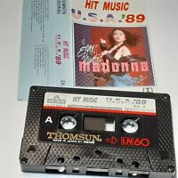 HIT MUSIC USA 89 VOL 3 THOMSUN IMPORT CASSETTE TAPE ALBUM MADONNA BANGLES NENEH