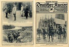 Prinzenparade in Comines Wintervergnügen an der Front Luxus-Unterstände c.1915