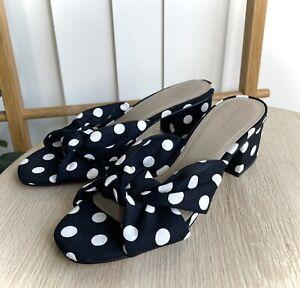 Country Road Polka Dot Naomi Mid Heel Size 40 Women's