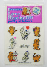 Vintage HEATHCLIFF Puffy Scratch & Sniff Stickers GRAPE Scented