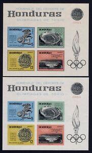 Olympic Honduras 1964 2 blocks of stamps Mi#Bl.6 A+B MNH CV=110€