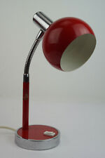 70er Table Lamp Vintage Desk Lamp Floor Lamp Spot Light Lamp Red