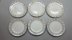 Vintage Alfred Meakin Sunray 6 Round 8'' Side Plates