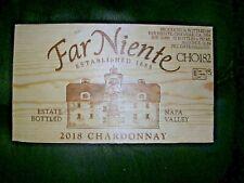 Wine Crate End Panel Far Niente 2018 Chardonnay Estate Bottled Napa Valley