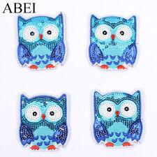 10pcs Owl Eule Aufnäher Zum Aufnähen Sequines Stickers DIY Embroidery Appliques