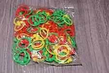 JOB LOT APPROX 144 SMALL PLASTIC RINGS YELLOW/GREEN/RED BRAND NEW FREE UK POST