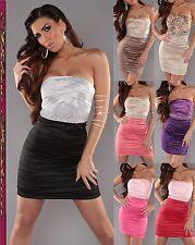 KouCla dress cóctel vestido de fiesta vestido de noche minivestido pedrería-piedras