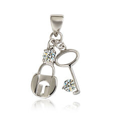 NEW Sterling Silver Lock and Key Pendant/Charm