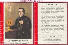 1317 SANTINO HOLY CARD S. GASPARE DEL BUFALO PREZIOSISSIMO SANGUE