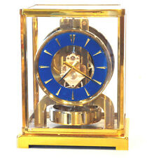 SERVICED 1950 JAEGER LECOULTRE 526*BLUE LAPIS DIAL*MANTEL CLOCK #120,000 WORKING