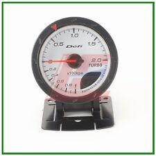 60mm def advanced turbo boost gauge Amber red/ white lights white face auto met