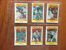 6-1978 Kellogg's 3-D Super Stars Cards (GEORGE BRETT/SPARKY LYLE/CHRIS CHAMBLISS