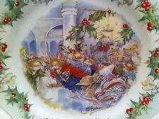 ROYAL DOULTON COLLECTOR'S PLATE BRAMBLY HEDGE MIDWINTER 'THE SNOW BALL' 1984