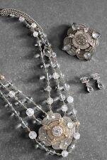 Rare Chanel COCO BRASSERIE 2015 NWT CC Crystal Medallion Pendant Necklace