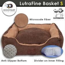 Small Suede Dog Cat Basket Pet Bed Cushion Futon Mat Washable Removable M L XS