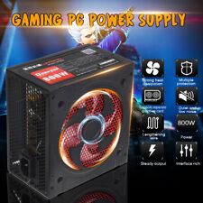 800W Alimentatore per PC Silenzioso ATX Gaming PFC 20 4pin per computer desktop