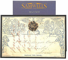 MS 2909 * 1841 GB 2d Mulready utilizzato * uckfield * MX lettersheet Sussex SG. CAT £ 2,400