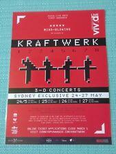 KRAFTWERK - 2013 AUSTRALIA TOUR POSTER - LAMINATED PROMO POSTER - SYDNEY!