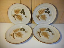 4 DENBY COTSWOLD BROWN & OATMEAL SIDE PLATES USED 1970'S 1980'S