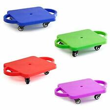 Set of 4 Kids Gym Class Plastic Scooter Board with Safety Guard Handles
