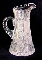 MERIDEN ALHAMBRA ABP Brilliant Cut Glass GLASS CRYSTAL Pitcher