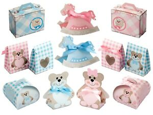 Cute Favour Boxes for Baby Shower Gender Reveal New Baby, Birthday.