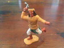 Timpo Apache Indian - Rare Dark Green Apron/ White Legs/ Brown Boots - 1970s