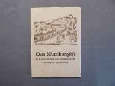 Wessel, Das Wartburgfest der Deutschen Burschenschaft 1817, Eisenach 1954