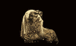 LARGE ORIGINAL MOSAIC PHOTO POSTER IN VARIOUS COLOURS OF SIA FURLER No 5B