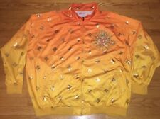 Pelle Pelle Orange Yellow Sun Zipper Up Jacket Mens Size 4XL