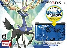 Nintendo 3DS LL XL Pokemon X Pack Limited Xerneas Yveltal Blue F/S NEW