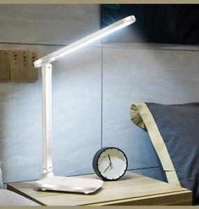 LED Schreibtischlampe Tischlampe dimmbar Leselampe Büroleuchte 7W USB 3 Farb DE