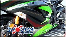 Shogun BLACK No Cut Frame Sliders for Kawasaki 2013-15 Ninja ZX6R 750-4449