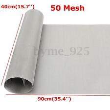 304 Stainless Steel 50 Mesh Filtration Woven Wire Cloth Screen Sheet 40cm x 90cm