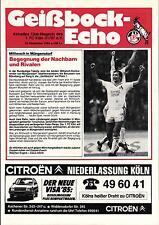 BL 84/85 1. FC Köln - Borussia Mönchengladbach, 14.11.1984