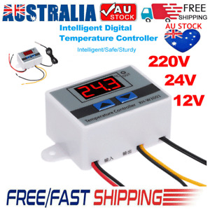 Digital LED Temperature Controller Thermostat Control Switch W/ Probe Waterproof