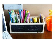 Cute Wood School Pencil Case With Blackboard Vintage Wooden Boxes Stationery Bag