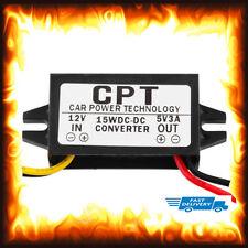 12v a 5v DC 3 Amp 3a 15w telefono cellulare di tensione corrente AUTOCARRO CAMION BARCA AUTO MOTO