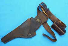 RARE US Pre WW1 1909 Swivel Leather Holster Belt & 1908 45 LC Pouch
