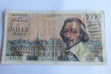 1000 Francs RICHELIEU 1/7/1954